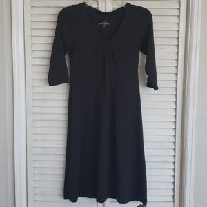Eddie Bauer Black V Neck Dress, Size XS